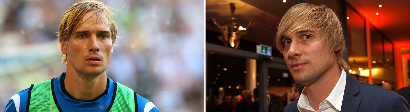 """Martin Amedick bei der Film-Preview von """"Robert Enke - auch Helden haben Depressionen"""" und in seiner aktiven Zeit als Fußball-Profi."""