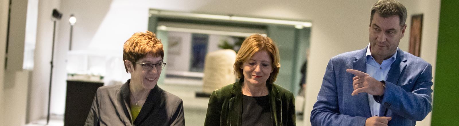 Annegret Kramp-Karrenbauer, Malu Dreyer und Markus Söder