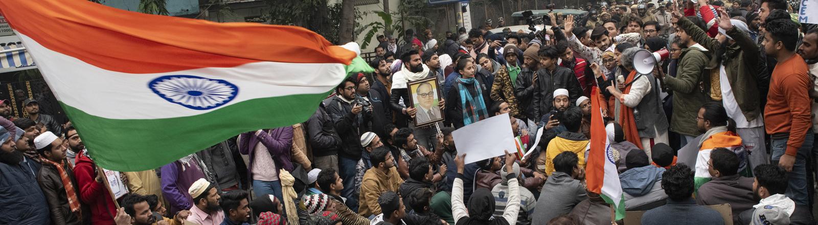 Protest in Neu Delhi am 19. Dezember 2019