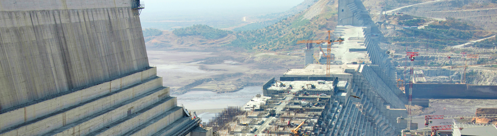 Die Baustelle des Grand-Ethiopian-Renaissance-Dam 2017
