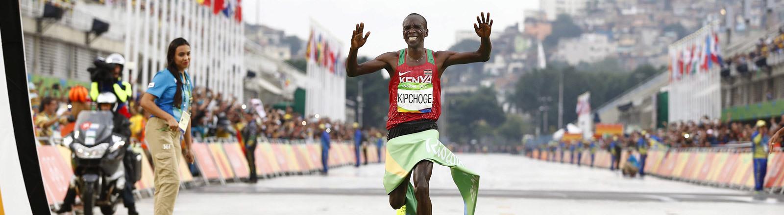 Eliud Kipchoge  beim Marathon
