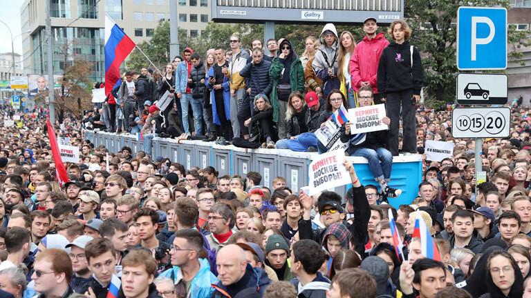 Proteste in Moskau am 10. August 2019. Die Menschen fordern faire Wahlen.