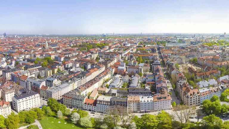 Blick auf München von oben.