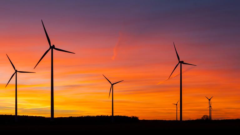 Windräder in der Lausitz, Brandenburg