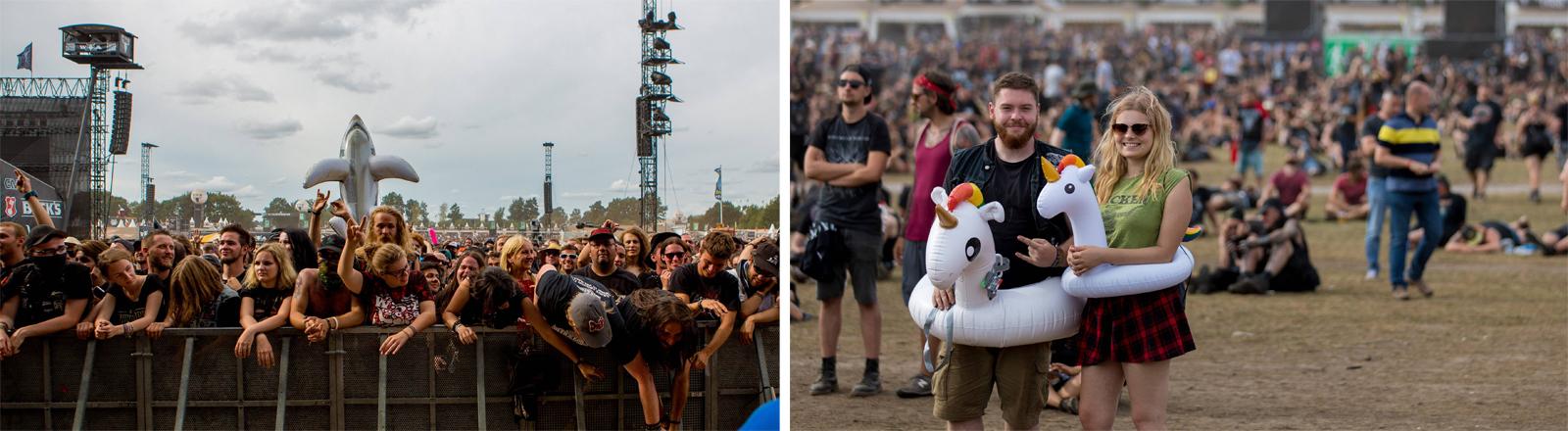 Sicherheit bei Festivals: Szenen aus Wacken im jahr 2018