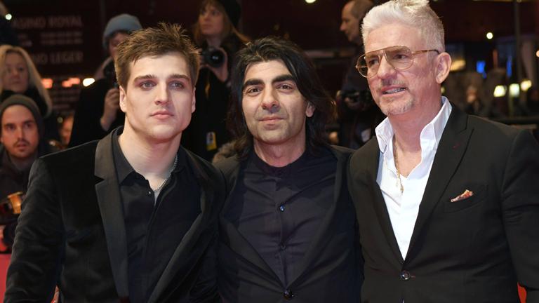 Jonas Dassler, Fatih Akin und Heinz Strunk auf der Berlinale