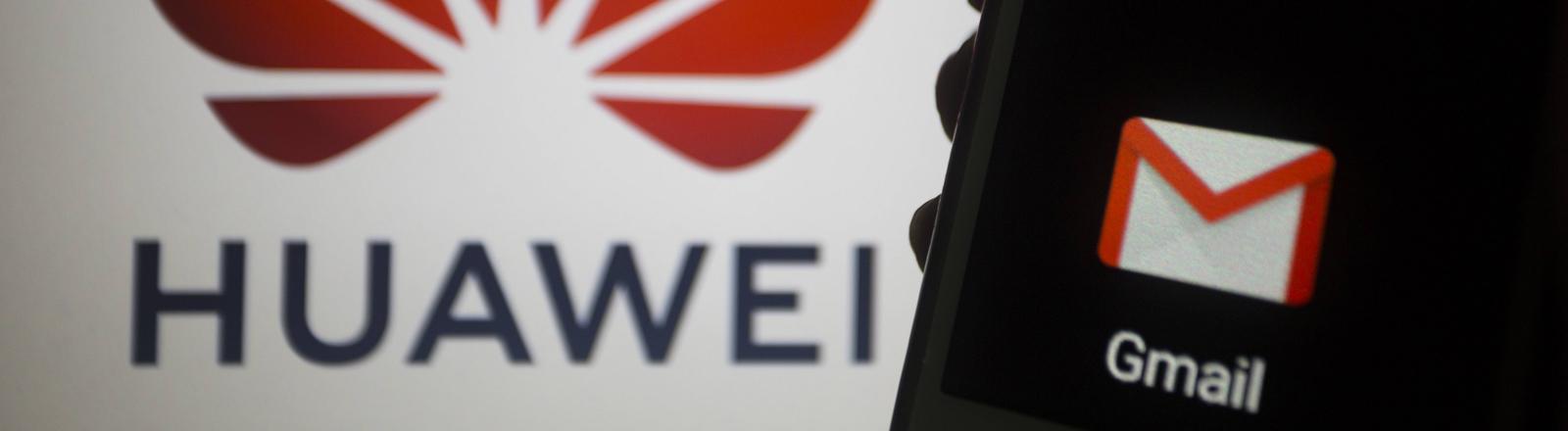 Huawei Handy mit Gmail und Google Play Store