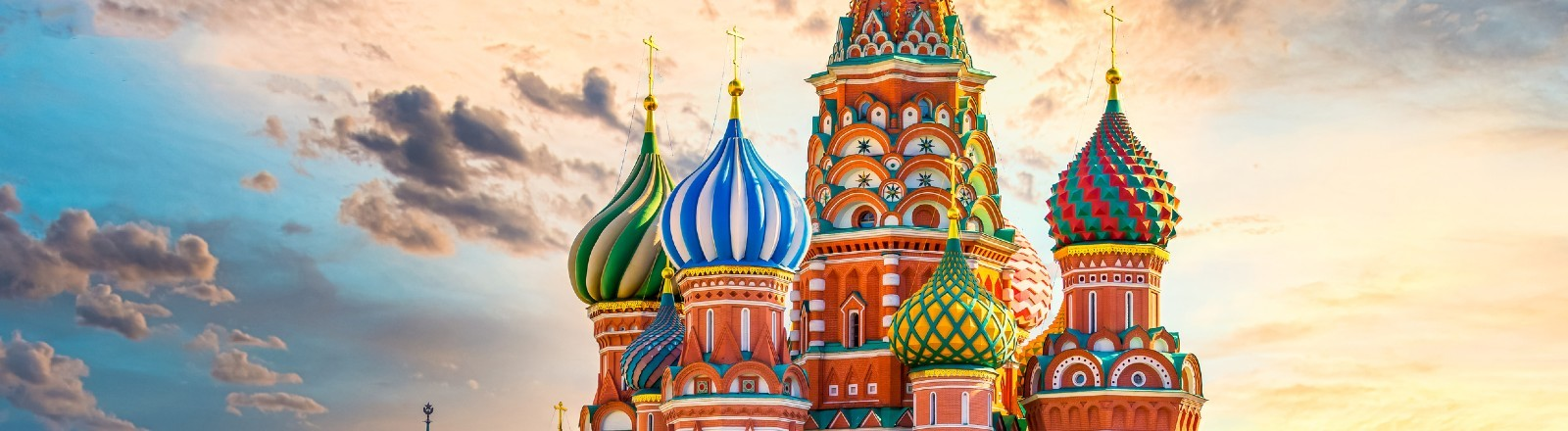 Die Basilius-Kathedrale auf dem Roten Platz in Moskau.
