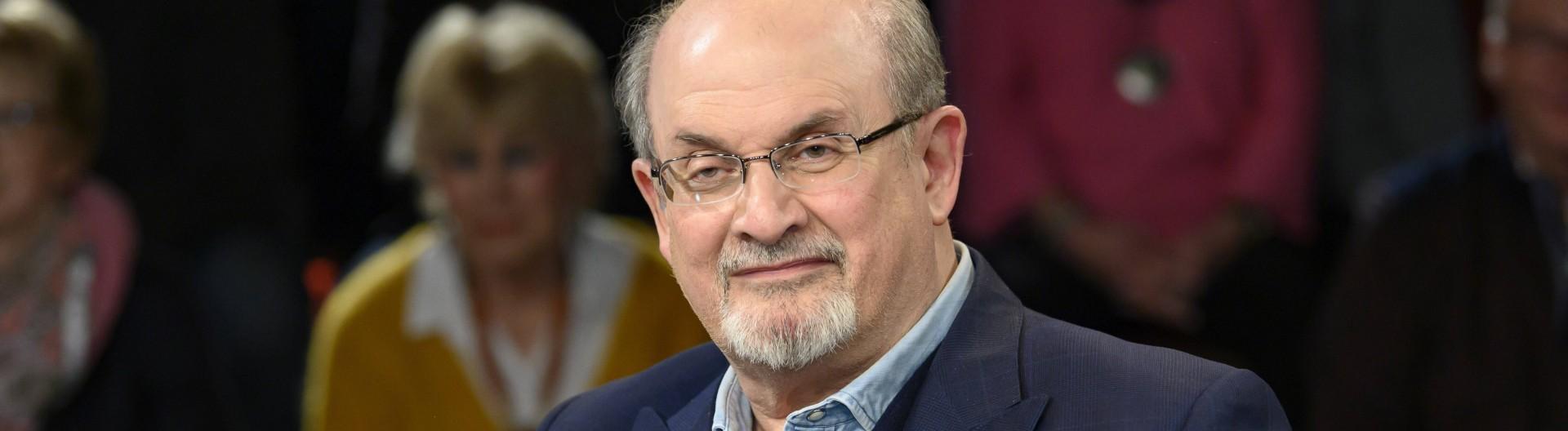 Der Autor Salman Rushdie am 12. November 2019 in der Talkshow bei Markus Lanz