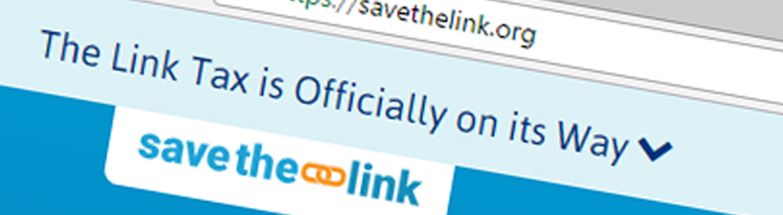 Screenshot der Website savethelink.org