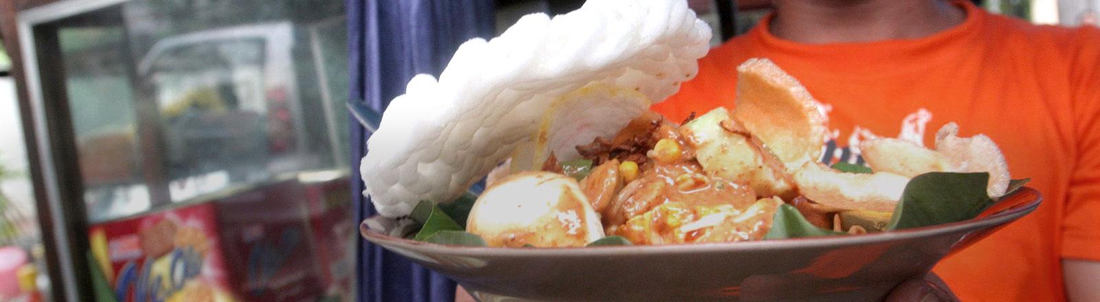 Gado-Gado, das indonesische Nationalgericht, rein vegetarisch.