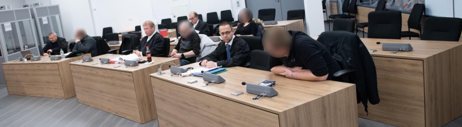 Prozess gegen Unterstützende der Gruppe Freital vor dem OLG Dresden, Aufnahme vom 25.01.2021