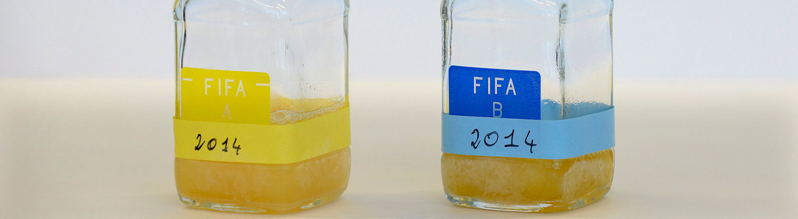 Urinproben bei der Fifa Fußball WM.