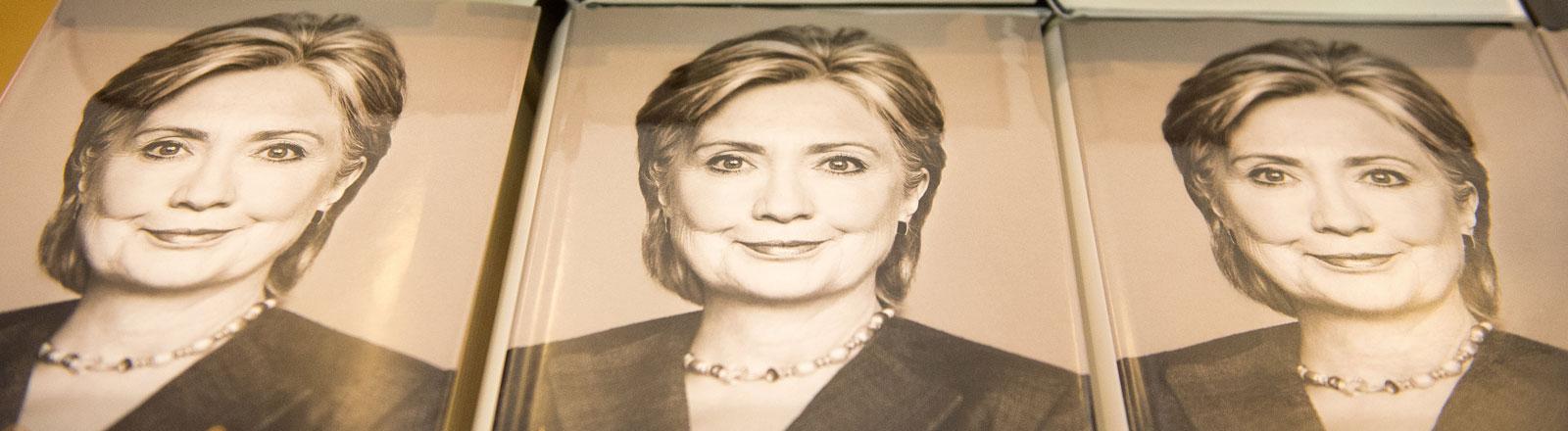 Hillary Clinton auf ihrem Buchcover.