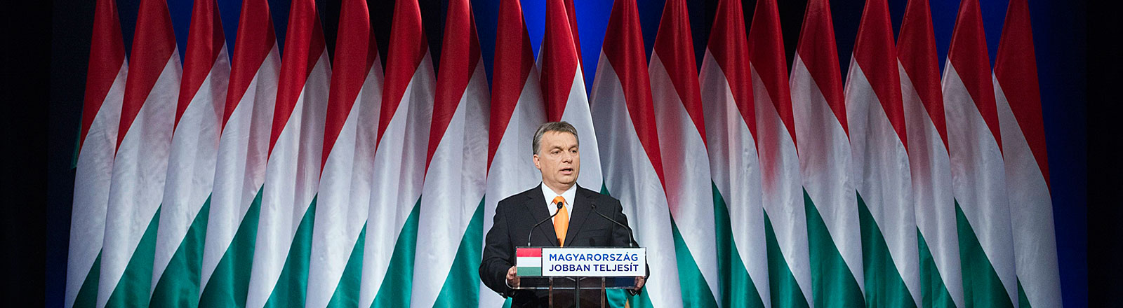 Viktor Orban bei einer Rede in Budapest
