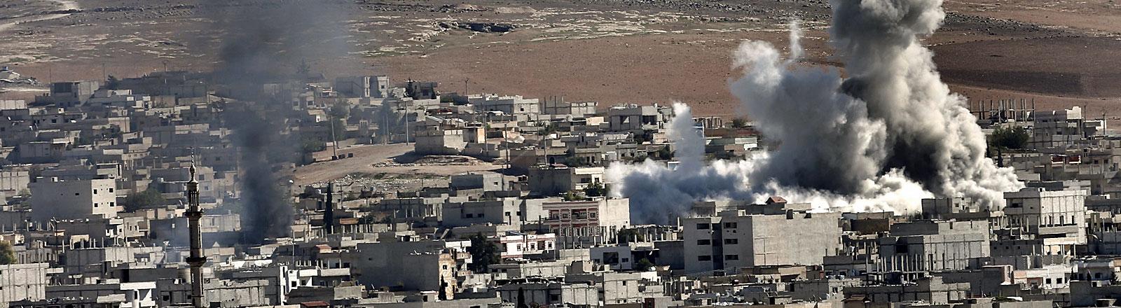 Explosion in Kobane, Syrien