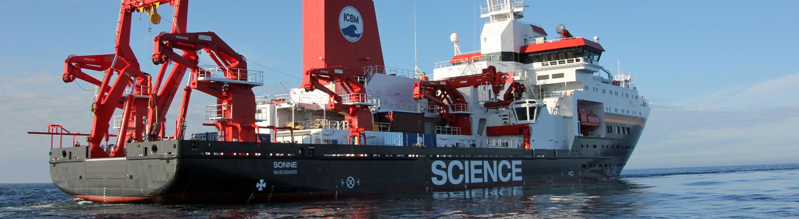 """Das Forschungsschiff """"Sonne"""" ist das modernste seiner Art."""