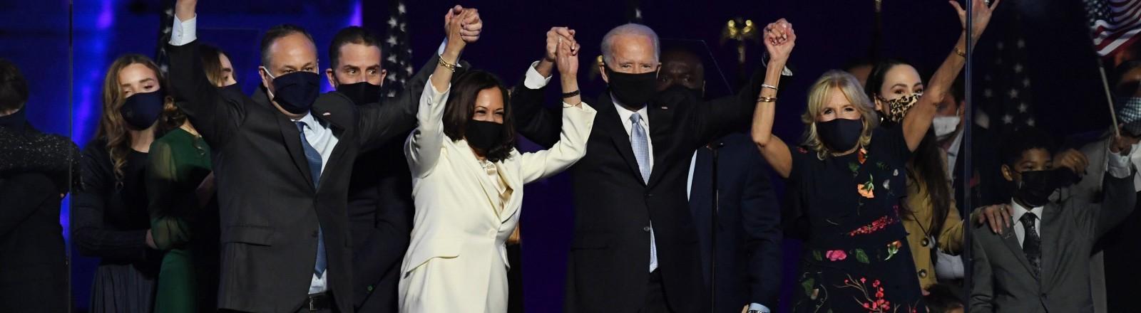 Joe Biden und Kamala Harris bei ihrem Sieg am 07.11.2020
