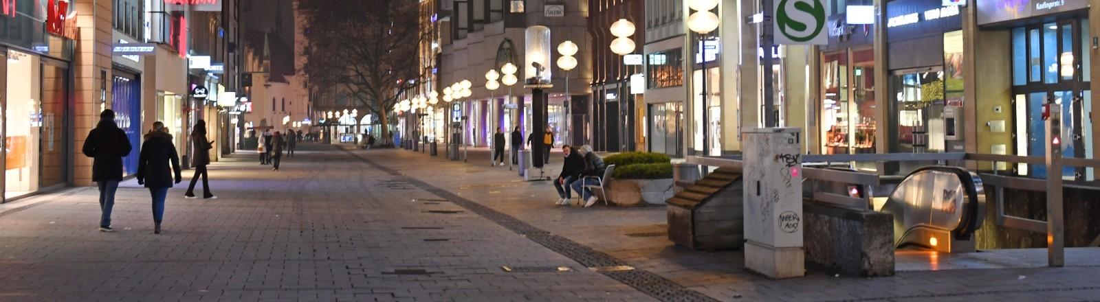 Leere Einkaufsstraße in München