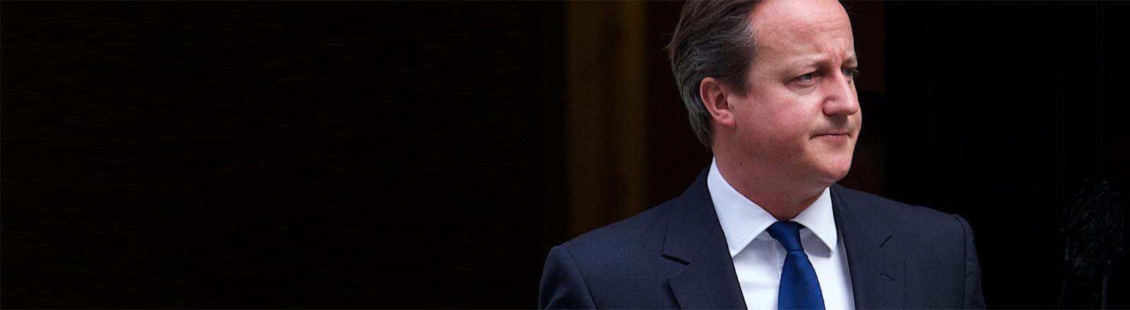 Der britische Premierminister David Cameron schaut etwas verkniffen zur Seite.
