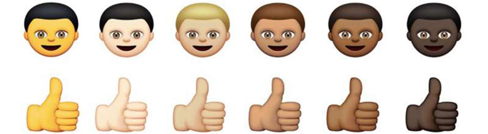 Entwurf für neue Multi-Kulti-Emoticons von Apple