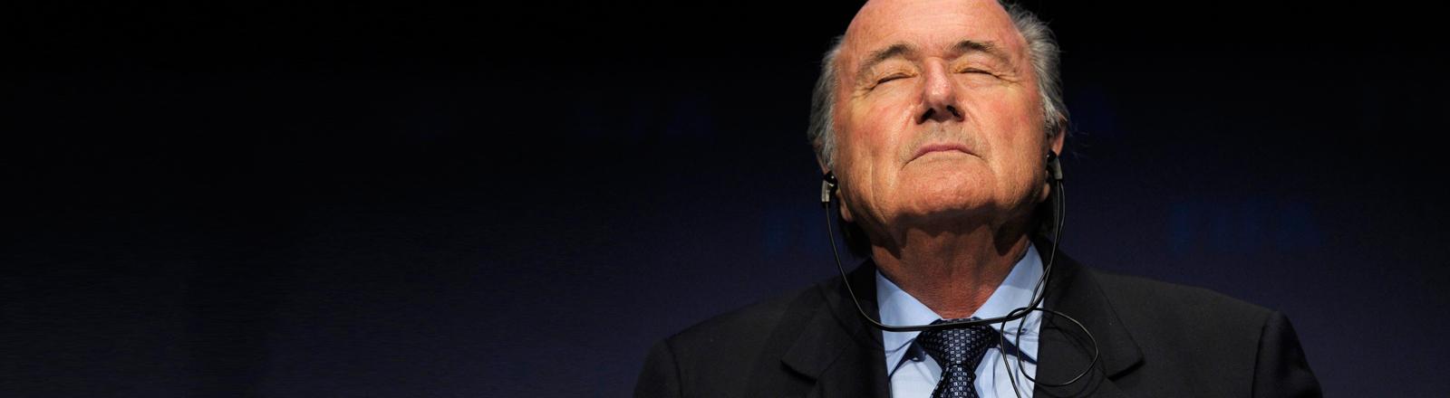 Fifa-Präsident Sepp Blatter nimmt seinen Abschied.