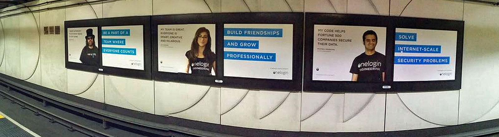 Werbeposter für Ingenieure einer Silicon Valley Firma