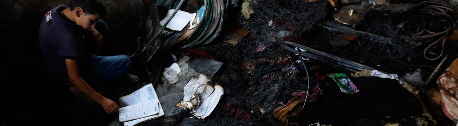 Nach einem Brandanschlag Ende Juli 2015 in Duma im Westjordanland - mutmaßlich durch jüdischen Extremisten - kamen ein palästinensisches Baby und sein Vater ums Leben.