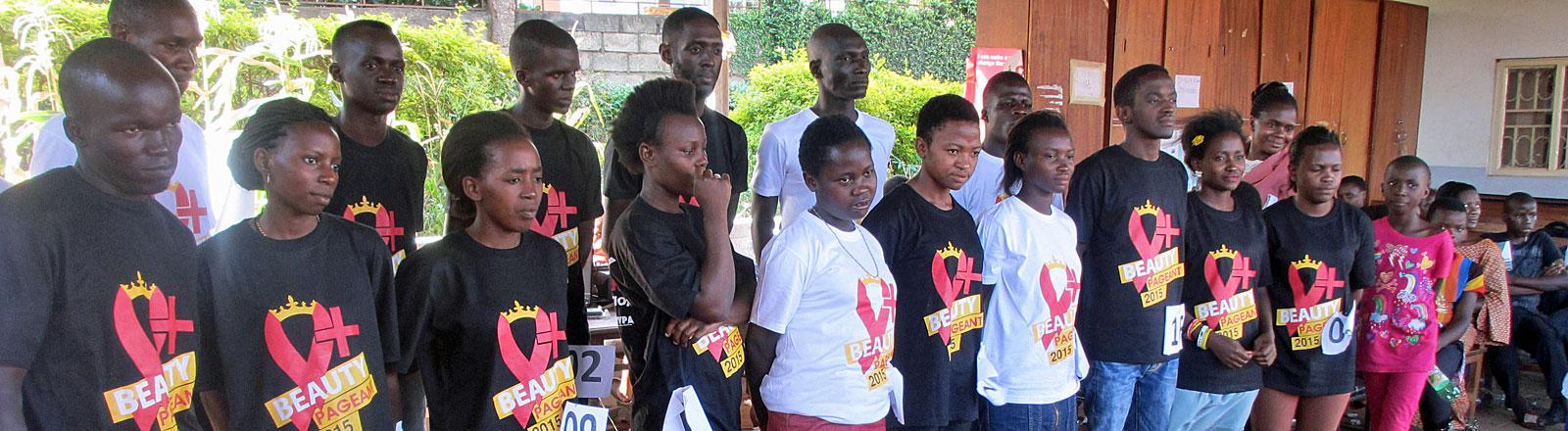 Teilnehmer des Schönheits-Wettbewerbs für HIV-Infizierte in Uganda 2015