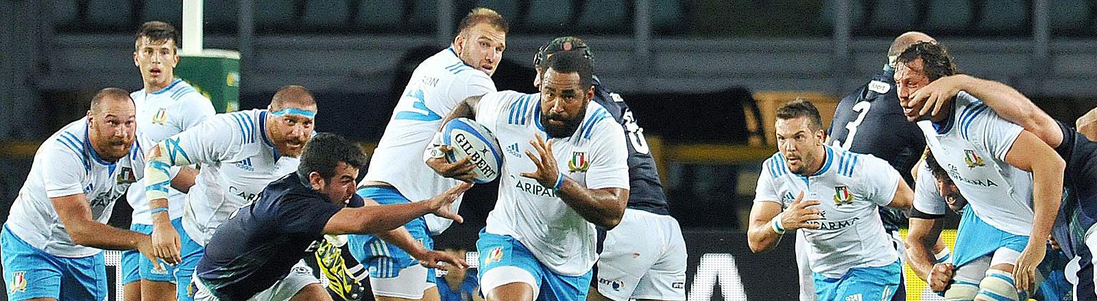Rugby Spiel Italien vs.Scotland am 23.8.2015