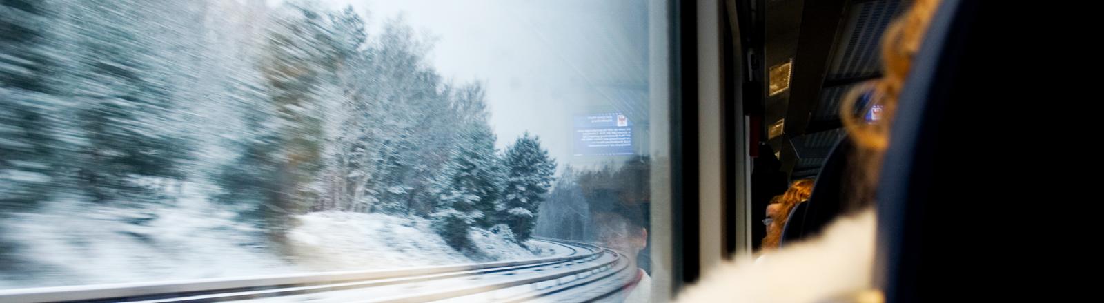 Bahnfahren im Winter