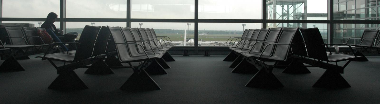 Transitzone am Flughafen