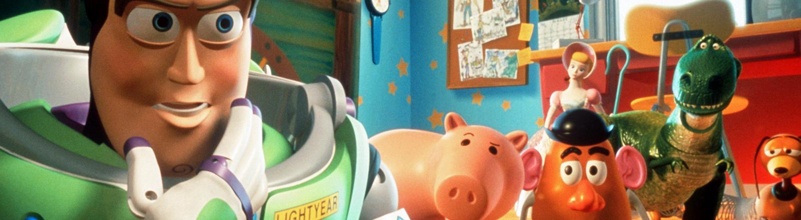 Eine Szene aus dem Pixar-Film Toy Story.