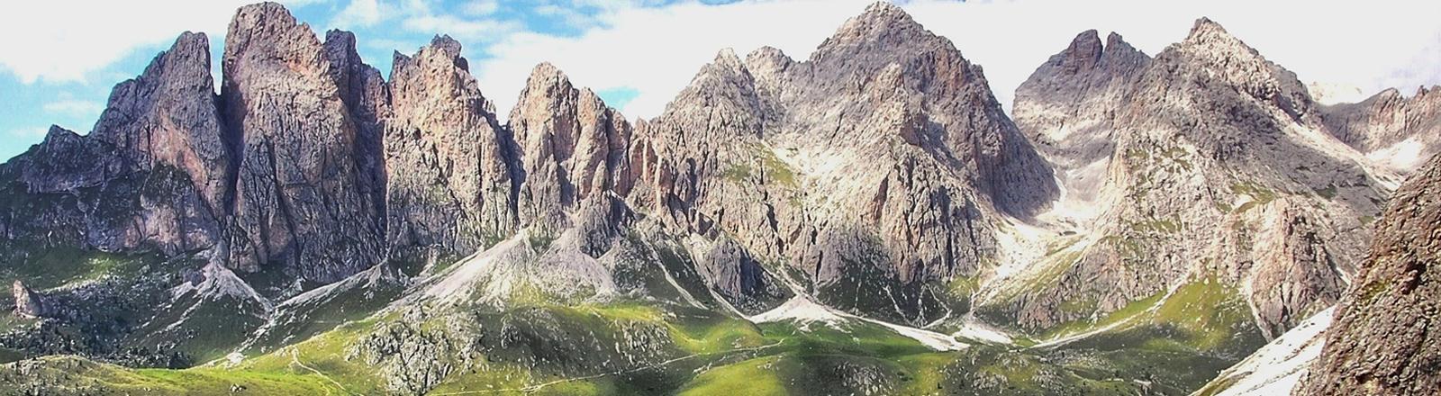 Dolomiten-Bergpanorama