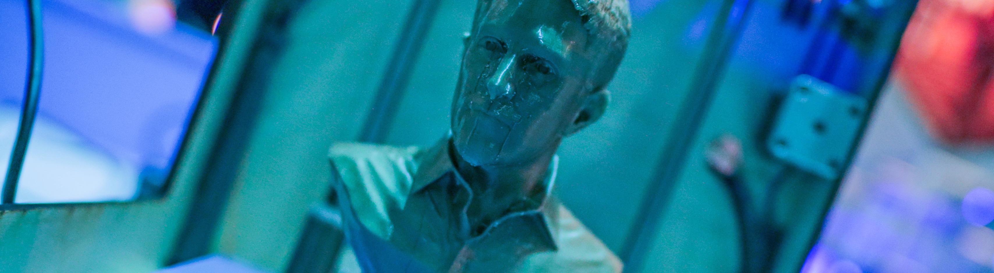 Die Büste des US-amerikanischen Whistleblowers Edward Snowden als 3D-Druck; Foto: dpa