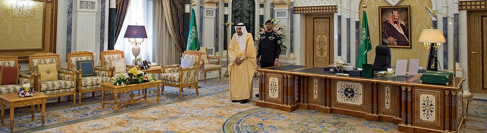 Arbeitszimmer von Saudi-Arabiens König
