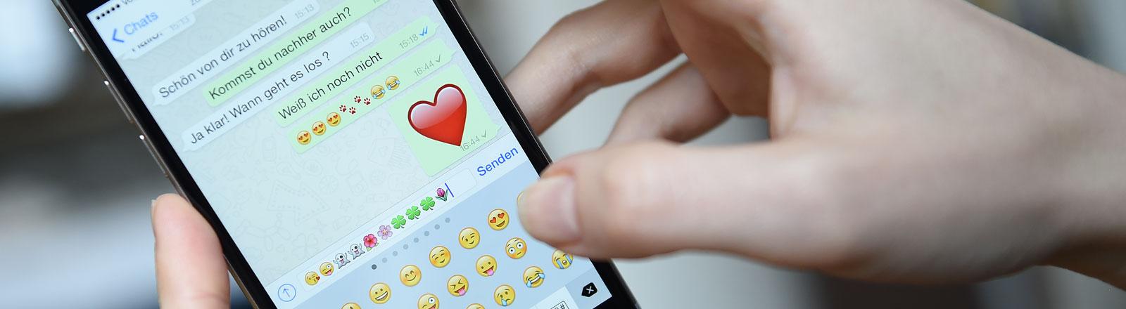 Whatsapp Nachricht mit Herz