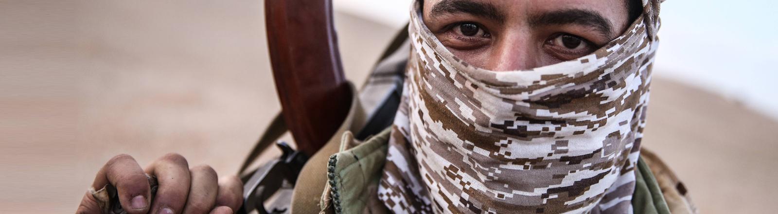 Ein Soldat der syrischen Armee.