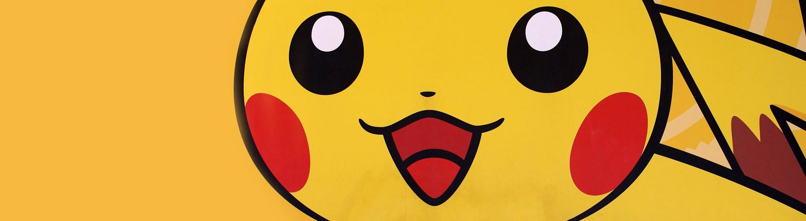 Die Cartoon-Figur Pikachu aus der Pokemon-Reihe.