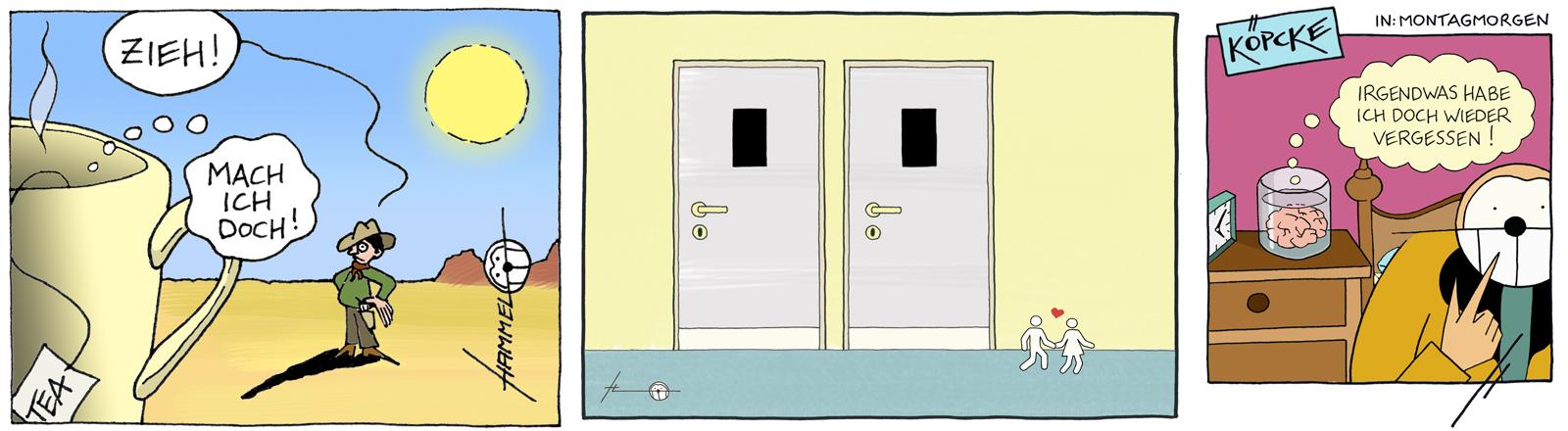 Cartoons von Björn Hammel.