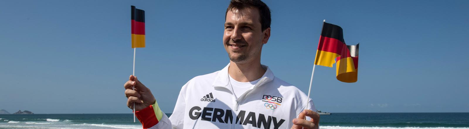 Tischtennisspieler Timo Boll wird am 05.08.2016 die deutsche Fahne ins Olympia Stadion in Rio de Janeiro tragen.