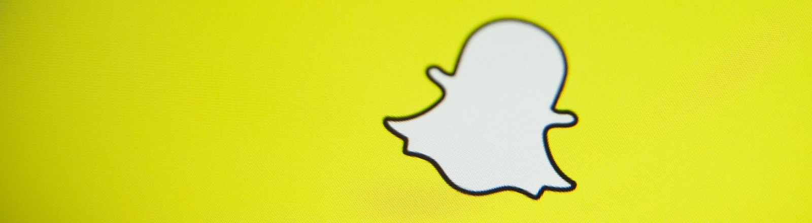 Das Gespenst ist das Logo von Snapchat.