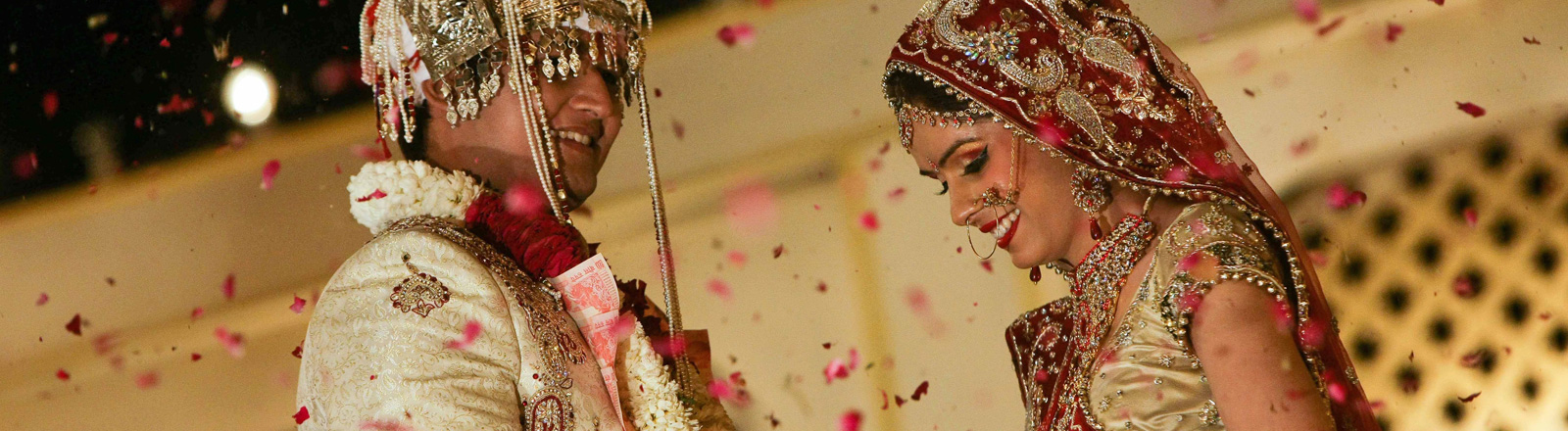 Ein indisches Brautpaar.