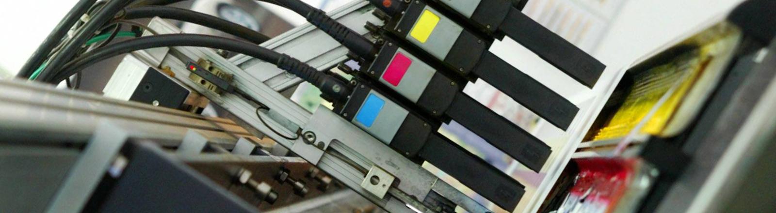Farbpatronen eines Druckers.