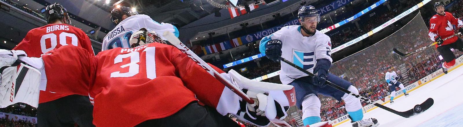 Das einmalige Eishockeyfinale vom World Cup 2016 Kanada gegen Europa.