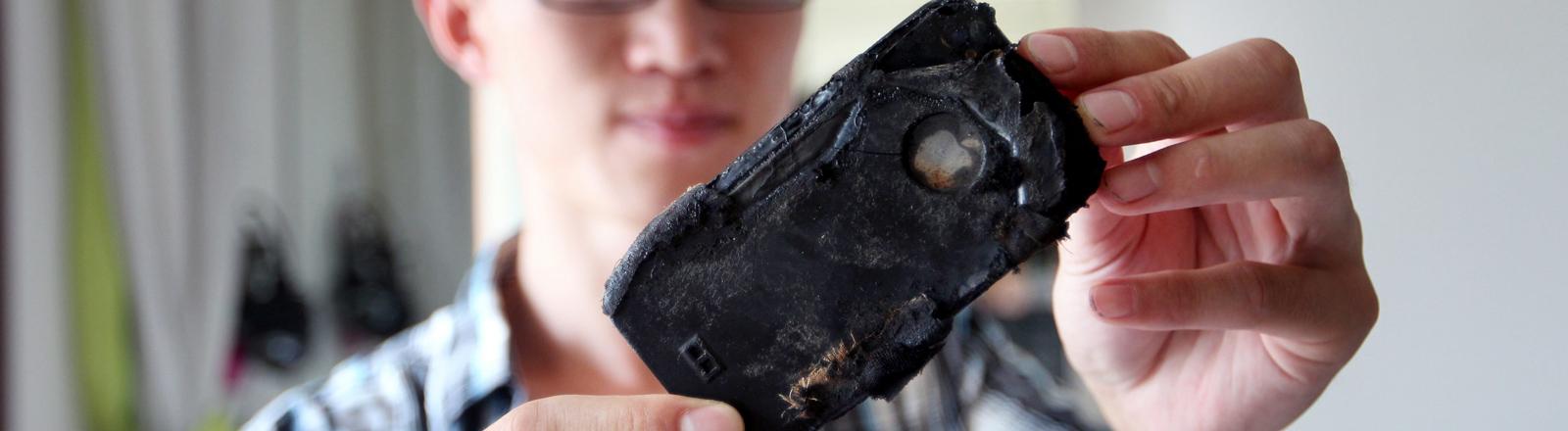 verbranntes Handy