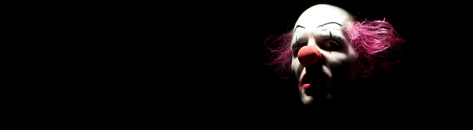 Ein böser Clown.