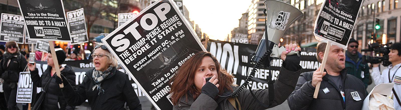 Anti-Trump-Proteste in Washington