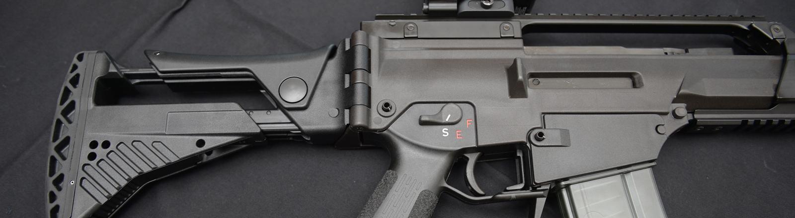 Ein Gewehr von Heckler & Koch.
