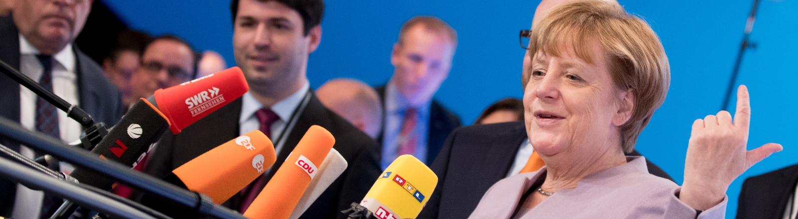 Bundeskanzlerin Angela Merkel am 05.12.2016 in Essen.